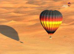 A hot air balloon ride over the desert of Dubai.....the stillness...the vast desert...wonderful....