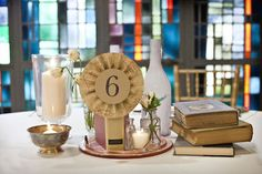 Table Number idea ----Literature Themed Party Ideas | Occasions Magazine