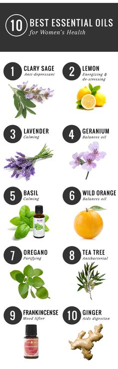 The 10 best essential oils for women's health -- and tips on how to incorporate them into everyday life.