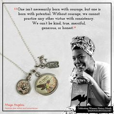 Today for Women's History Month we are celebrating Maya Angelou. She was an American poet, author, and humanitarian. The Caged Bird Sings, Civil Rights Activists, Big Words, American Poets, Women's History, Maya Angelou, Jewelry Companies, Screenwriting, Inspire Others