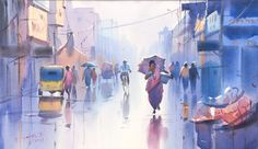 Watercolor painting from Ejoumale