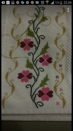 This Pin was discovered by Lji Cross Stitch Letters, Cross Stitch Borders, Cross Stitch Samplers, Cross Stitch Flowers, Modern Cross Stitch, Cross Stitch Designs, Cross Stitching, Cross Stitch Embroidery, Canvas Template