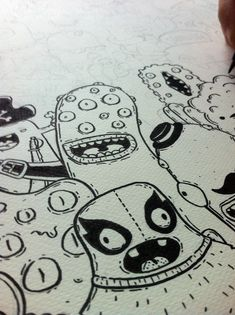 Monsters doodle art and handmade illustrated wearables with Samnuts (Interview) - Friday Illustrated