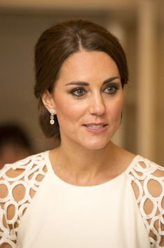 Catherine, Duchess of Cambridge is seen as she attends a reception hosted by the Governor General Peter Cosgrove and Her excellency Lady Cosgrove at Government House on April 24, 2014 in Canberra, Australia...