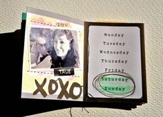 Inspírate Plus One por Mrs Diaz para Mad Scrap Project Monday Tuesday Wednesday, Project, Mad, Sunday, Scrapbooking, Mini Albums, Domingo, Scrapbook, Memory Books