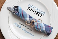 "Thrift Trick: Upcycled Cloth Napkins From a Dress Shirt and a New Series: ""Resolve to Repurpose!"""