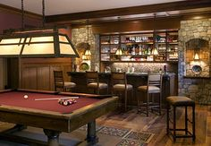 Love this billiards room!  Pour the rye and rack em!