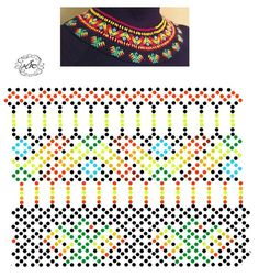 Foto Natali Khovalko Diy Necklace Patterns, Bead Loom Patterns, Jewelry Patterns, Beading Patterns, Bead Jewellery, Seed Bead Jewelry, Fabric Origami, Beading Techniques, Loom Beading