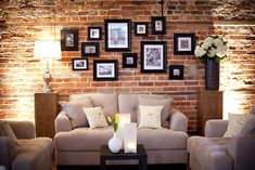 ideas apartment living room red exposed brick for 2019 Faux Brick Walls, Exposed Brick Walls, Exposed Brick Apartment, Brick Loft, Living Room Red, Living Room Decor, Living Room Brick Wall, Brick Wallpaper Living Room, Apartment Layout