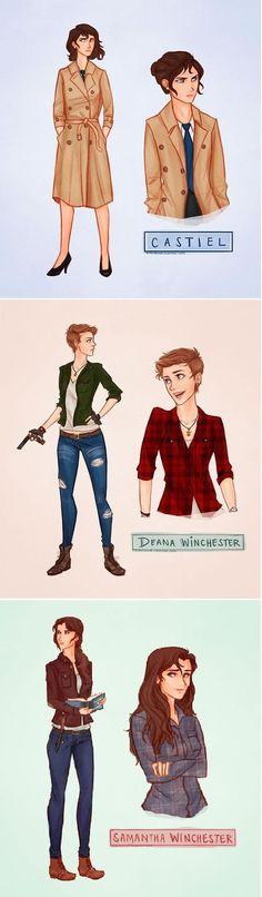 Castiel, Dean, and Sam. I love
