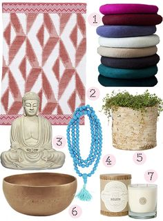 To go with this morning's Meditation Room inspiration, Amy rounded up 20+ products to inspire your own home meditation project