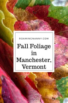Fall Foliage is the best time to visit Manchester, Vermont. The leaves change from green to reds, oranges and yellows and the mountains explode with color. Usa Travel Guide, Travel Usa, Travel Guides, Travel Tips, Travel Stuff, Travel Goals, Manchester Vermont, Visit Manchester, Manchester Travel