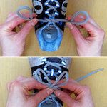 how to tie shoe laces so they stay put while running