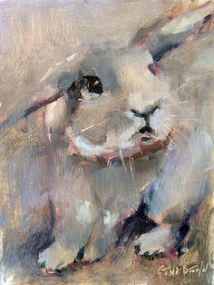 """""""Thumper 3""""   8 x 6, oil    Someone is quickly becoming my muse. Are y'all getting tired of Thumper paintings?    Please visit my facebo..."""