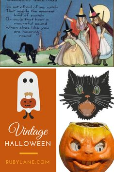 Search Ruby Lane for spooky vintage decorations, Halloween postcards and unique costumes. Halloween Photos, Halloween Season, Halloween House, Halloween Cosplay, Holidays Halloween, Spooky Halloween, Halloween Costumes, Vintage Halloween Decorations, Halloween Home Decor