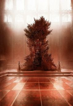 What the original Iron Throne was meant to look like. MUCH more intimidating.