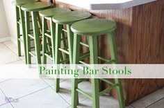 BeingBrook: How to Paint Bar Stools