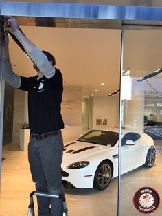 Nonstop Locksmith latest project at Napleton's Aston Martin of Chicago see more of our work at http://www.nonstoplocksmith.com/about-us/gallery/ #Lock #Door #LockInstallation #DoorRepair #Chicago #BusinessSecurity