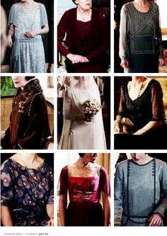 Downton Abbey costumes montage via http://lady-arryn.tumblr.com/tagged/dacostumes 10