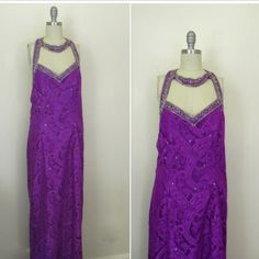 NEW IN THE SHOP! Vintage 1970 Purple Beaded Sequin Gown (36/30/32) http://ift.tt/1lP6fC1