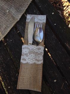 Rustic Vintage Chic Wedding Burlap Cutlery by DaisyDazeDesign, $2.25