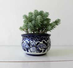 Round Glazed terracotta clay planterIndigo by CheriDemeterHome Green Carpet, Garden Gifts, Clay Art, Terracotta, Glaze, Im Not Perfect, Planter Pots, Succulents, Challenge