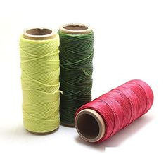 Passion Junetree Leather Craft Sewing Waxed Thread Heavy Duty Waxed Thread Sewing Waxed Coarse Whipping Thread 1mm Leather Hand Stitching 210D 3 pcs set >>> Check this awesome product by going to the link at the image.
