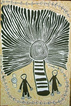 Linda Syddick Napaltjarri ~ The Witch Doctor and the Windmill, 2006