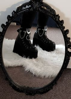You are in the right place about grunge goth wallpapers Here we offer you the most beautiful picture Dark Fashion, Grunge Fashion, Gothic Fashion, Fashion Shoes, Grunge Outfits, Emo Outfits, Aesthetic Shoes, Aesthetic Clothes, Goth Shoes