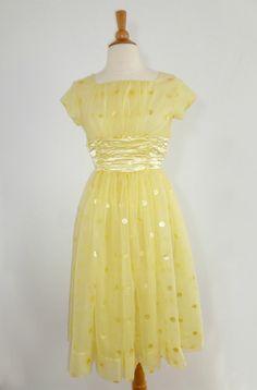 Sock Hop LEMON CHIFFON Party Dress 1950s or by AutrefoisVintage I Dress, Party Dress, Vintage Dresses, Vintage Prom, Sock Hop, 50th Wedding Anniversary, Prom Dresses, Summer Dresses, Little White