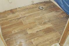 Guest Bath Reno Day 4: We Have Floor!