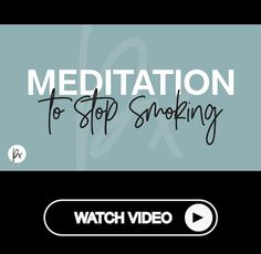 Meditation to stop smoking in 9 minutes! Meditation For Health, Free Guided Meditation, Power Of Meditation, Meditation Videos, Meditation For Beginners, Daily Meditation, Healing Meditation, Mindfulness Meditation, Stop Smoke