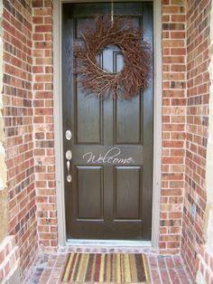 front door. Welcome on left door House numbers on right door & Welcome stencil on the front door | For the Home | Pinterest ... Pezcame.Com