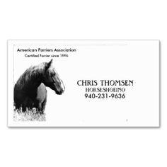 Farrier Card Business Cards