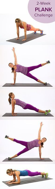 This 2-week plank challenge is perfect to workout your whole body!