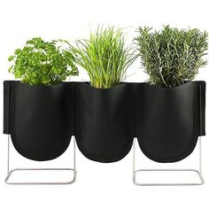 Authentics Urban Garden Plant Bag Set of 3 (360 MYR) ❤ liked on Polyvore featuring home, outdoors, garden tools and black
