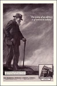 1920 Prudential Insurance Company Vintage Print Ad Les Miserables Quote | eBay