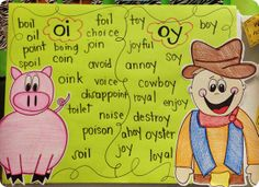 What a  creative lady!  The children will remember these chunks just because of the pictures!  Add a story about a Cowboy and his pig 'Oink' and they are SURE to remember those sounds! The cowboy can say 'oh why' and the pink can say 'oh I.... get it!'