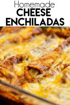 Enchiladas Discover Cheese Enchiladas - The Salty Marshmallow These Cheese Enchiladas are filled with creamy cheese and topped with a homemade red enchilada sauce-- a perfectly cheesy meal! Mexican Dishes, Mexican Food Recipes, Vegetarian Recipes, Cooking Recipes, Mexican Desserts, Freezer Recipes, Freezer Cooking, Drink Recipes, Cooking Tips