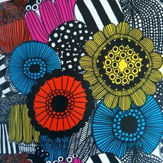 Allotment. A gardening theme to today's posts. This textile design for Marimekko was designed by Maija Louekari in 2009. #marimekko #allotment #repeatpattern #maijalouekari by designfortoday