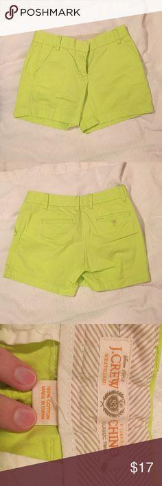 """J.Crew Chino Shorts Like new fun bright color! 5"""" inseam J. Crew Shorts"""
