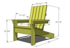 Kid's Adirondack Chair - diy furniture plans Pallet Chair, Diy Chair, Pallet Furniture, Furniture Plans, Kids Furniture, Rustic Furniture, Garden Furniture, Outdoor Furniture, Diy Furniture Chair