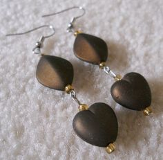 Original, Handmade Acrylic Beads with Silver Plated French Hook Wire