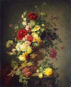 Simon Saint-John, Flowers and Grapes,   1846