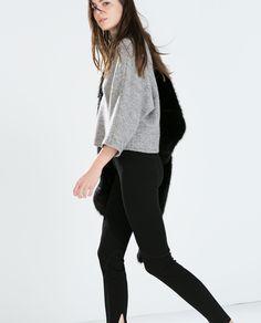 STUDIO ZIP LEGGINGS from Zara