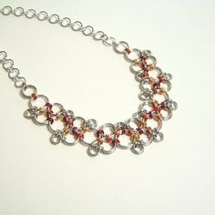 Japanese Freeform Chain Mail Necklace  $47.00