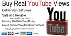 http://buyingrealyoutubeviews.com/ 1000 YouTube hits @ $1 Buy Youtube views, likes comments and subscribers from us. We are offer quality services at an affordable price with 100% Guarantee