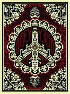 ArabAd Peace Poster Design Contest: Arab Woman the Peace Bomber Shepard Fairey Art, Shepard Fairy, Obey Art, Peace Poster, Arte Popular, Motif Floral, Illustrations, Graphic Illustration, Street Artists