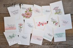 quick and cute note cards to fill an upcyled tin can - Krista Frattin