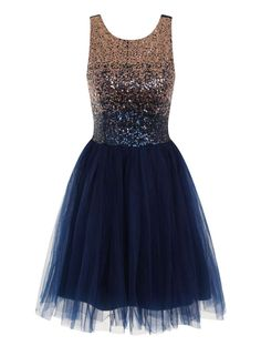 Laced in Love Blue Embellished Prom Dress - gradual colour change